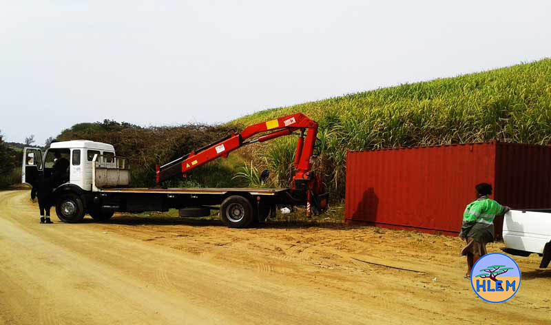 Alien plant control and environmental management for Tongaat Hulett Developments Bellamont Road Umdloti site container